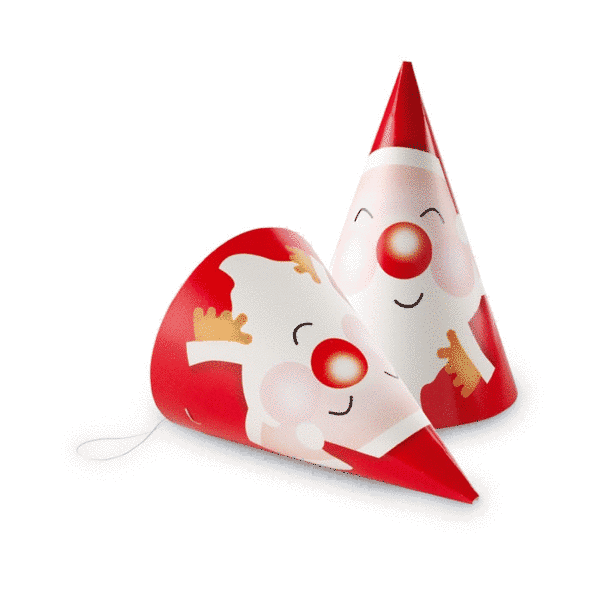 promotional set of 6 paper xmas party hats  u2502 christmas