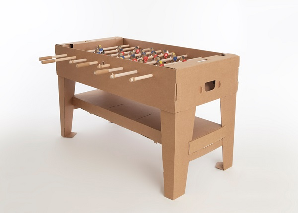 Souvent Promotional Football table made out cardboard (brown) │ Footballs  ES78